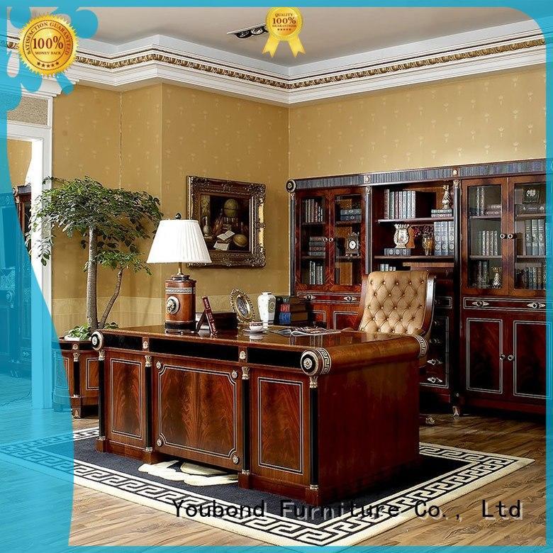 Custom mahogany classic office furniture end Senbetter