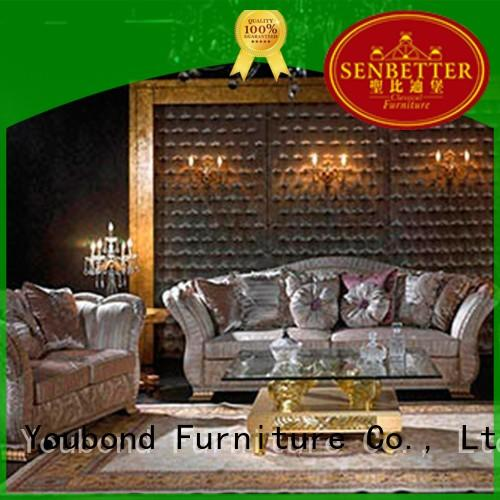 classical living room table sets with fabric or leather sofa for living room