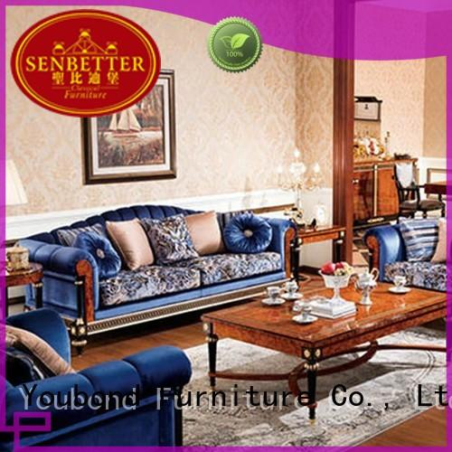 Senbetter luxury living room furniture with solid wood chair for living room