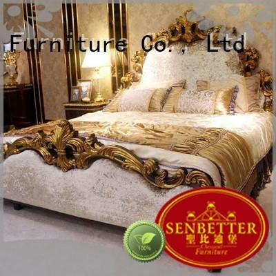 Senbetter vintage bedroom furniture with chinese element for royal home and villa