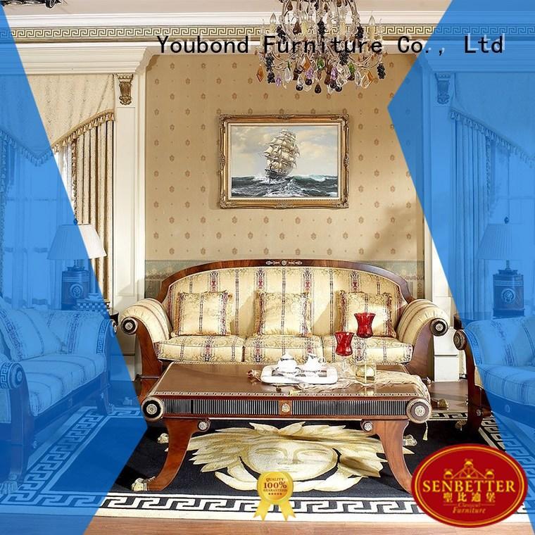 style italian Quality Senbetter Brand white delicate classic living room furniture living room