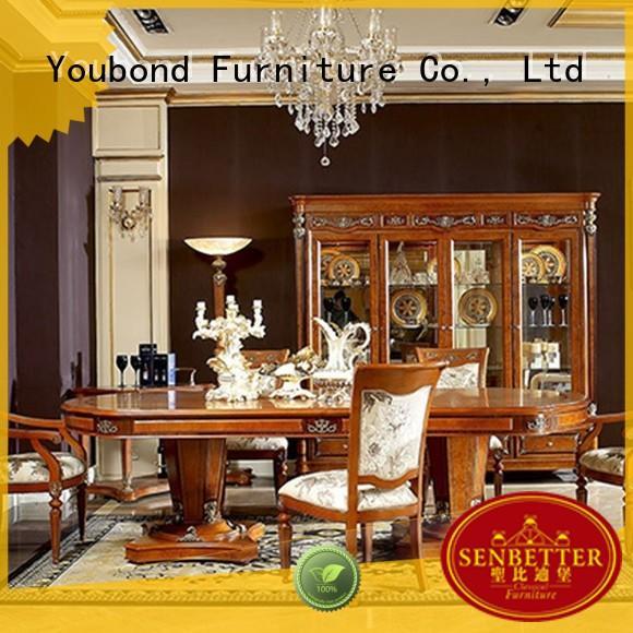 solid wood furniture round dining table manufacturer for sale Senbetter