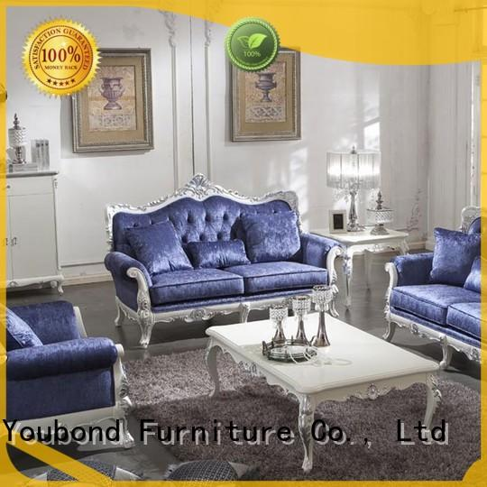 Senbetter wooden elegant living room furniture with brass accessory for home