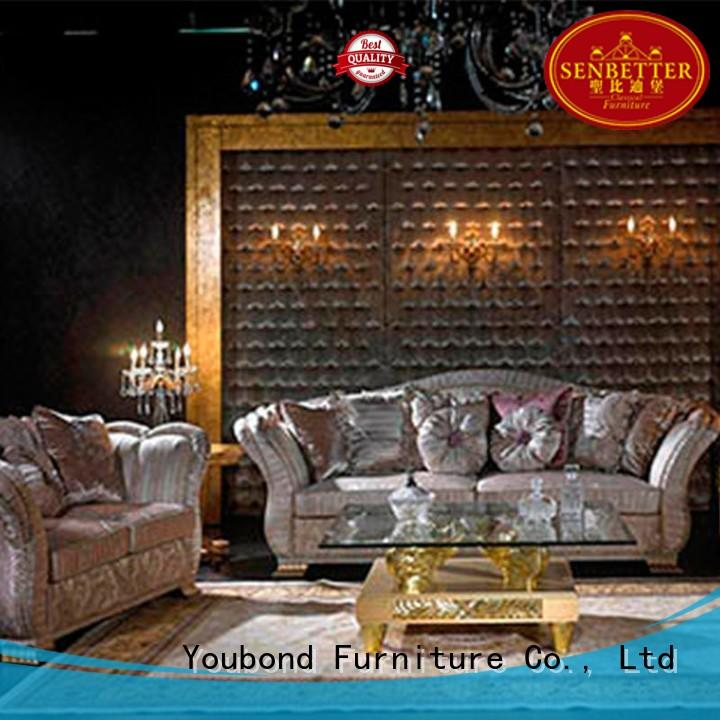 Senbetter luxury living room furniture with fabric or leather sofa for home