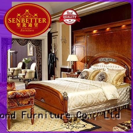 Senbetter european classic bedroom sets with solid wood table and chairs for sale
