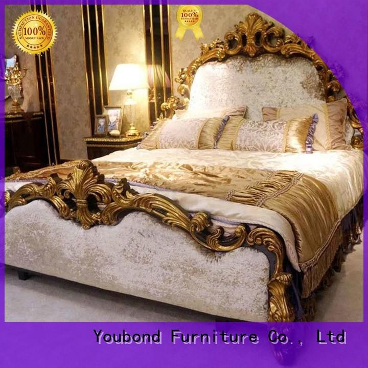 wardrobe antique bedroom furniture with shiny brass accessory decoration for royal home and villa