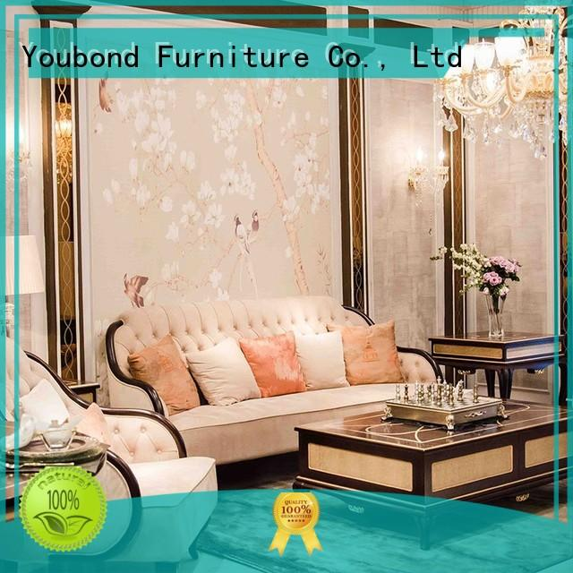 Senbetter italian luxury living room furniture sets with flower carving for home