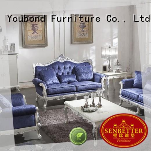 custom classic italian furniture with brass accessory for living room