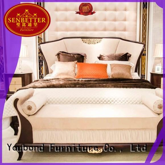 blue classic bedroom furniture with chinese elementfor sale