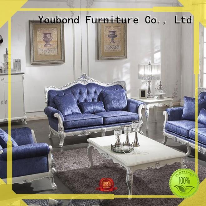 Senbetter victorian living room furniture with brass accessory for hotel