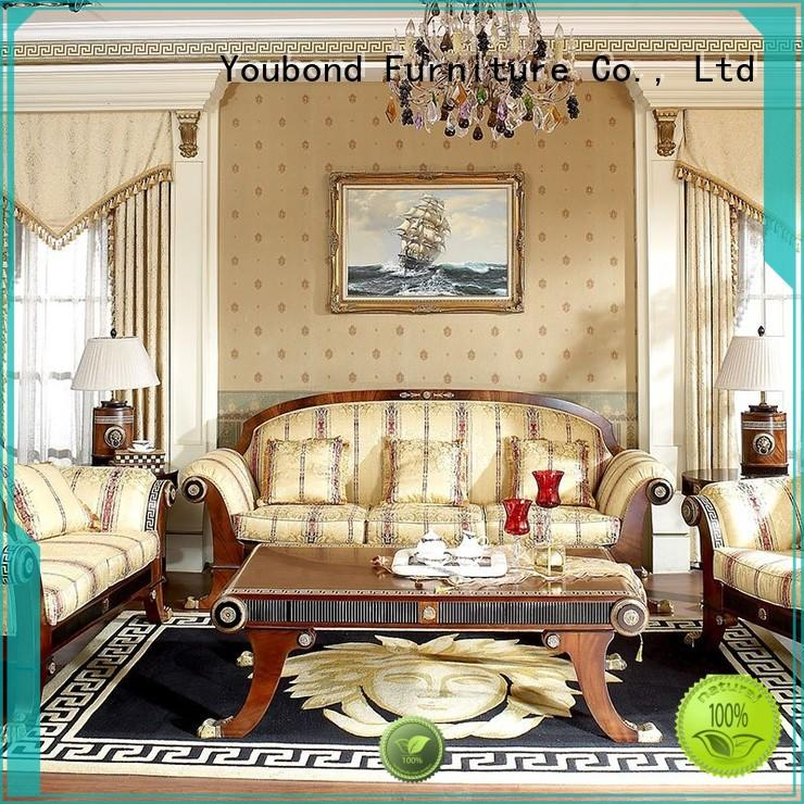 gloss living room couch set with chinese element for living room