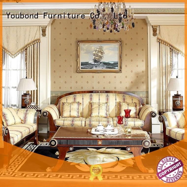 Senbetter italian best living room furniture with brass accessory for villa