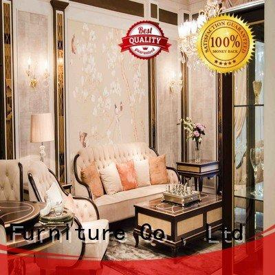 white living room furniture delicate flower classic living room furniture Senbetter Brand