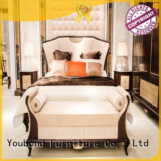 Senbetter solid wood bedroom furniture simple design mahogany style