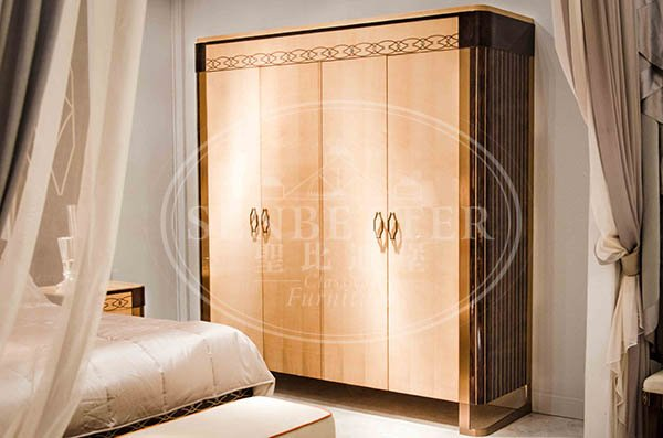 high end solid wood bedroom furniture with solid wood table and chairs for decoration-3