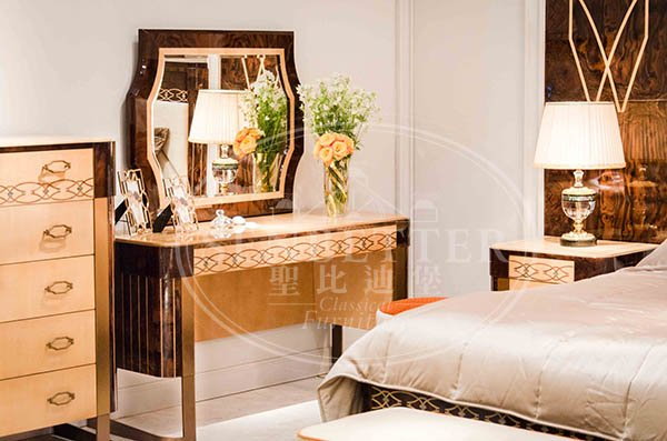 Senbetter best bedroom furniture with chinese element for royal home and villa-2
