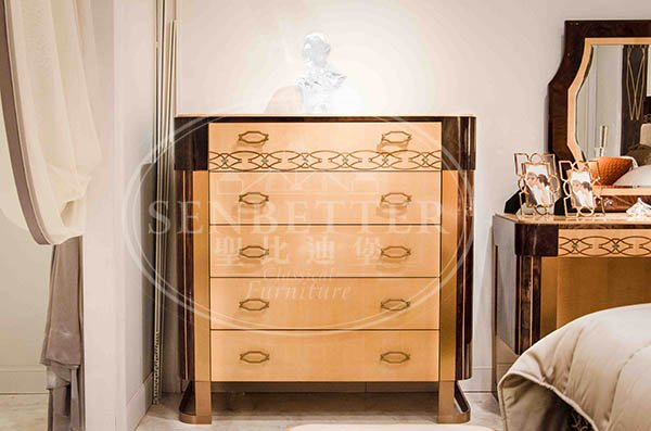 high end solid wood bedroom furniture with solid wood table and chairs for decoration-4