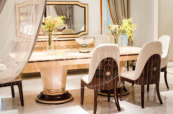 custom italian style dining table and chairs with chairs for sale-2