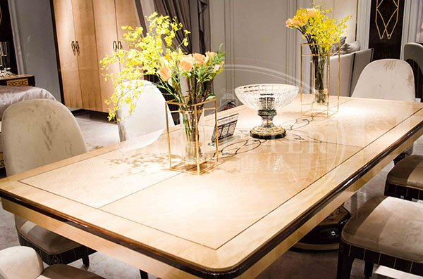custom italian style dining table and chairs with chairs for sale-4