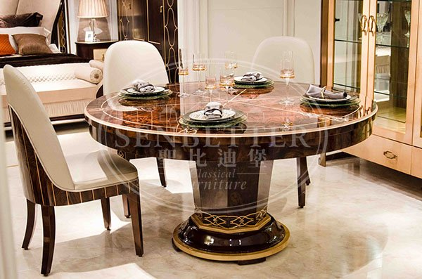 custom italian style dining table and chairs with chairs for sale-5