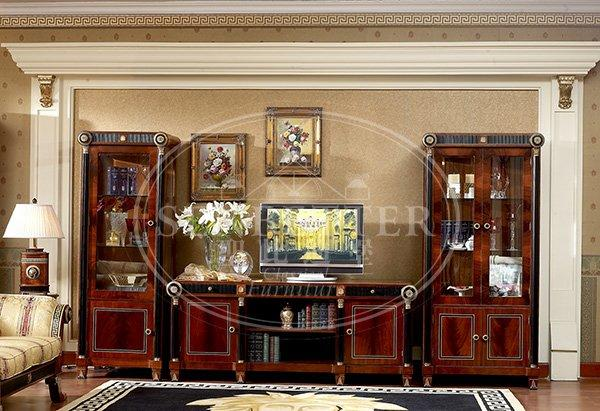 Senbetter round sofa chair living room furniture with mirror of buffet for villa