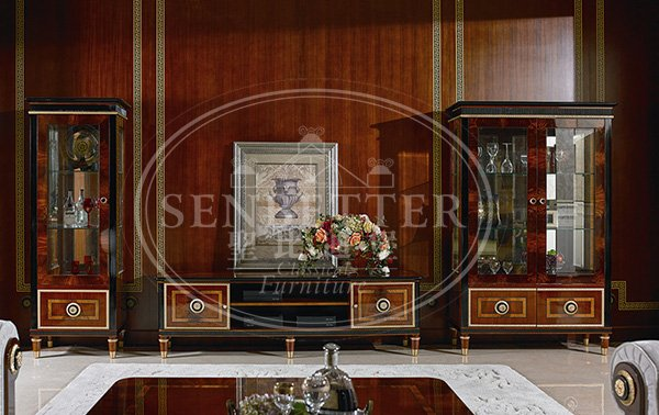 Senbetter classic italian furniture living room with flower carving for home-3