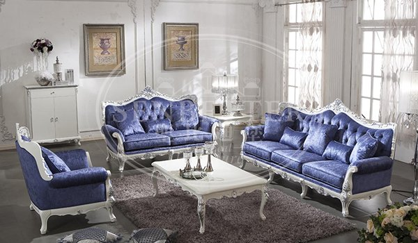 luxury classic living room sets with fabric or leather sofa for home-1