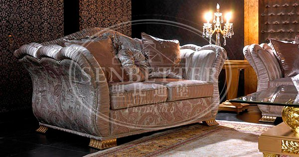 Senbetter wooden discount living room sets with flower carving for home-3