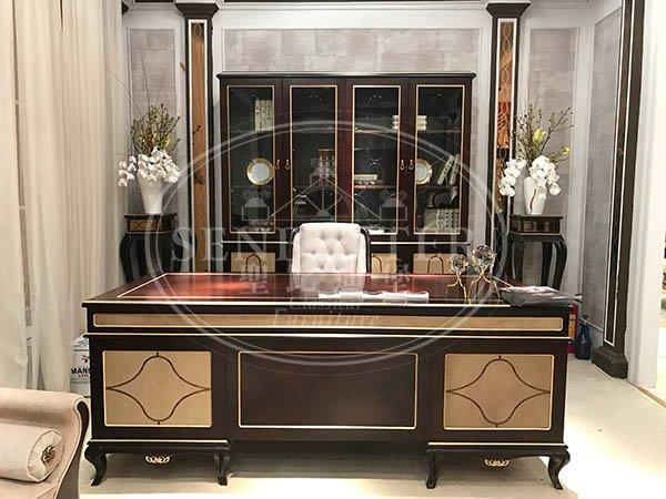 classic mahogany office furniture with office writing desk for home