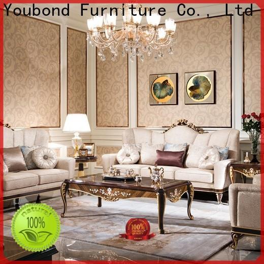 Senbetter custom room sofa set with flower carving for villa