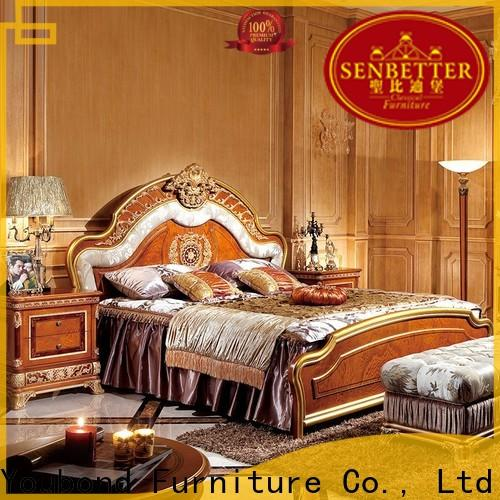 italian style chic bedroom furniture with shiny brass accessory decoration for royal home and villa