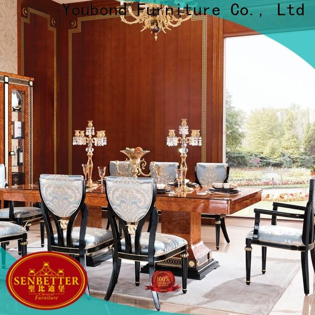 Senbetter white wood dining table manufacturers for villa