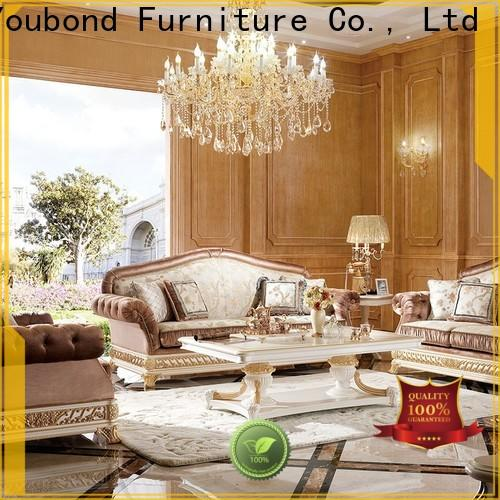 high-quality 2 piece living room set with brass accessory for villa