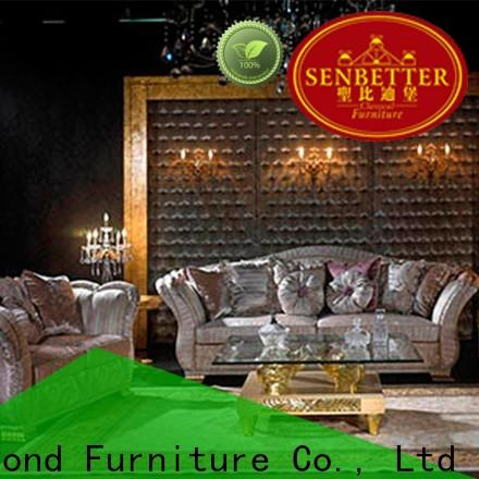 Senbetter traditional sofa sets living room with long dining table for hotel