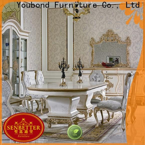 Senbetter custom italian dining room sets with chairs for villa