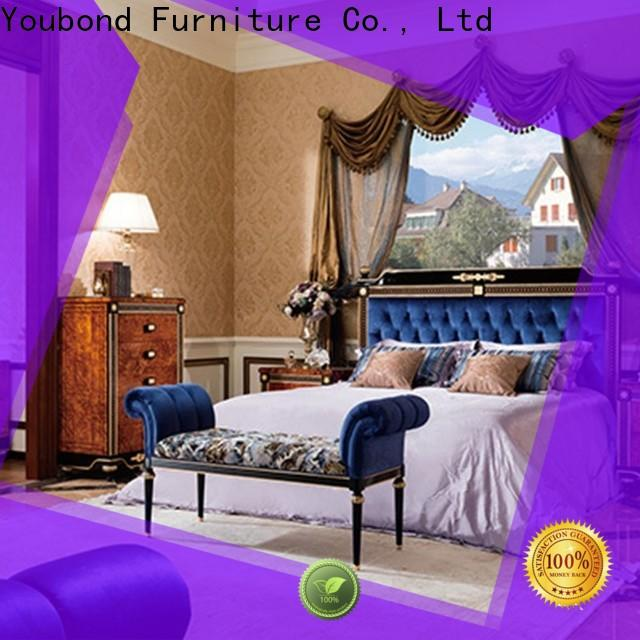Senbetter wholesale classic style bedroom furniture with white rim for decoration