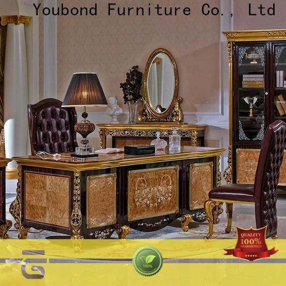 Senbetter european oak office furniture with bookcase for hotel