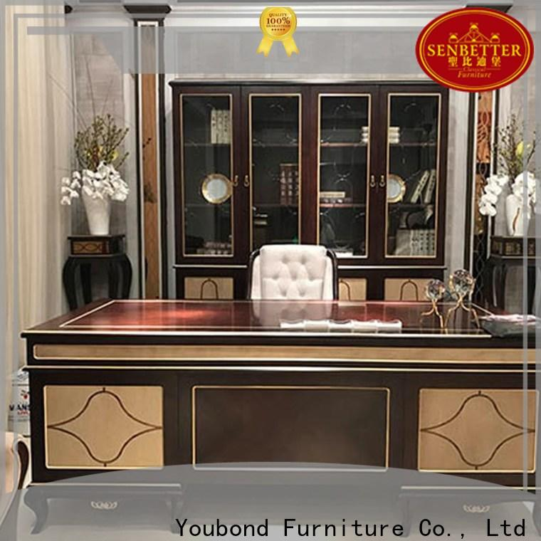 Senbetter real wood office furniture with office writing desk for home