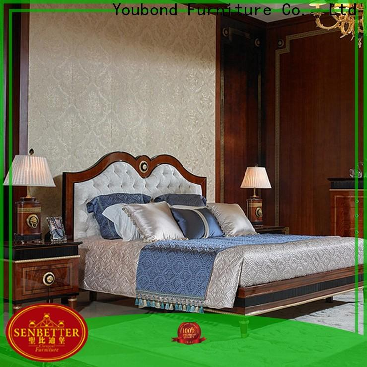 Senbetter teak bedroom furniture with solid wood table and chairs for decoration