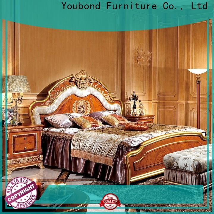 european classic mahogany furniture with shiny brass accessory decoration for sale
