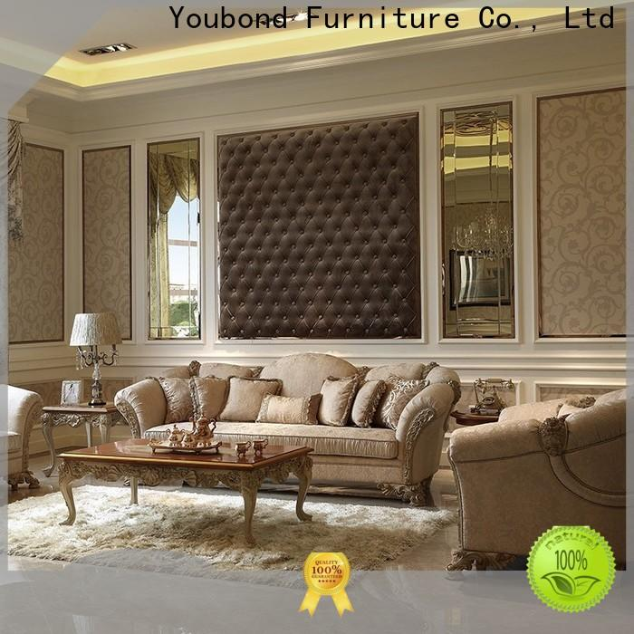 best 5 pc living room set with solid wood chair for hotel