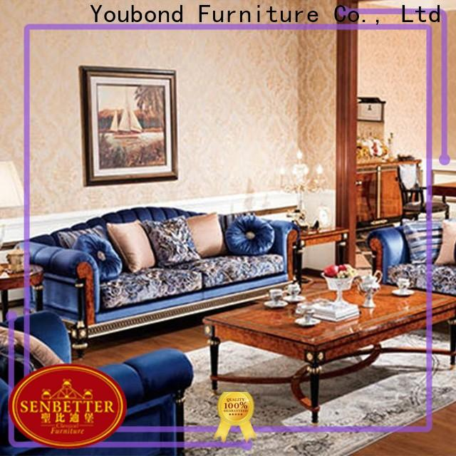Senbetter elegant style discount furniture living room sets for business for hotel
