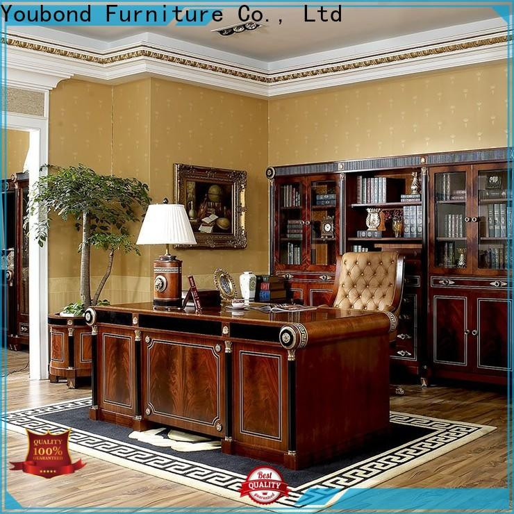 Senbetter chinese style office desk furniture with bookcase for hotel