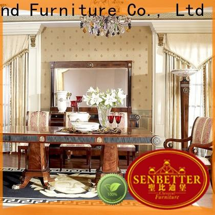 Senbetter solid wood contemporary bedroom furniture with chairs for hotel