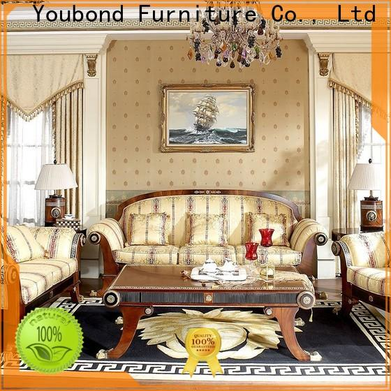 Senbetter top living room sofa sets on sale with flower carving for home