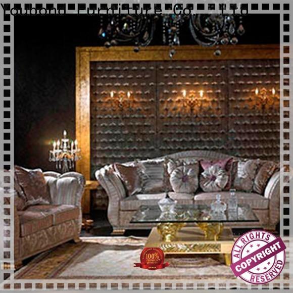 Senbetter gloss living room furniture online with flower carving for villa
