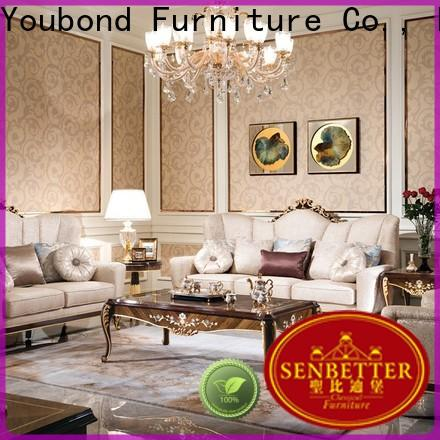 Senbetter victorian living room furniture with flower carving for hotel