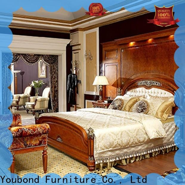 Senbetter high-quality white high gloss bedroom furniture factory for royal home and villa