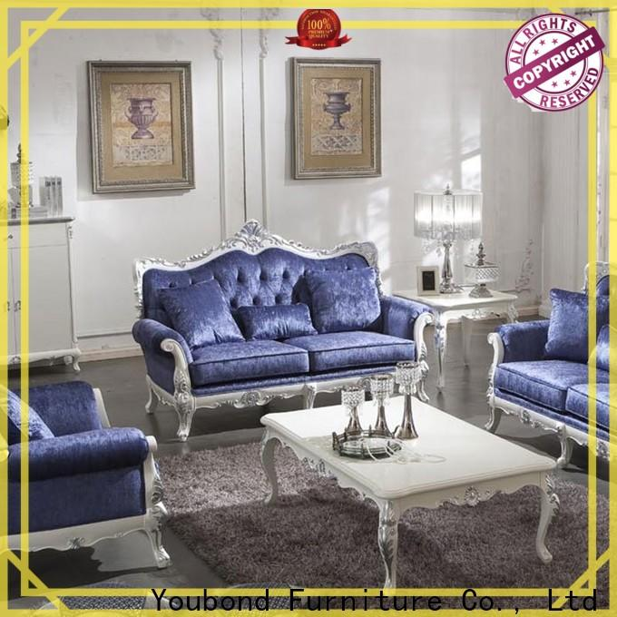 italian formal sofa set with flower carving for home