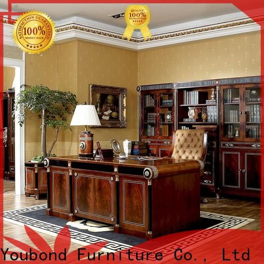 high end black home office furniture with bookcase for company